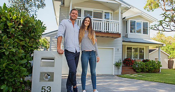 Image result for NEWLY WEDS IN FRONT ON NEW HOME